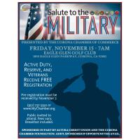 Good Morning Corona Salute to the Military - November 15, 2019