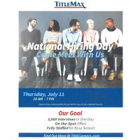 Titlemax National Hiring Day