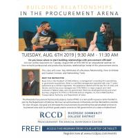 Building Relationships in The Procurement Arena