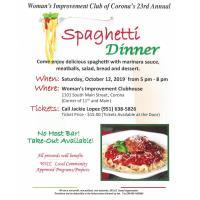 Women's Improvement Club of Corona's 23rd Annual Spaghetti Dinner