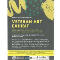Corona Public Library Veteran Art Exhibit