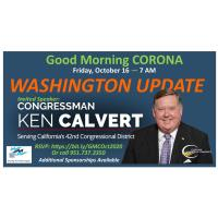 Good Morning, Corona! October 16, 2020 - Congressman Ken Calvert