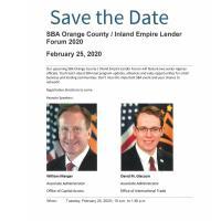 SBA Orange County/Inland Empire Lender Forum 2020