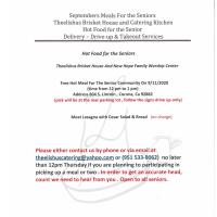 September Meals for the Seniors Theelishus Brisket House and Catering Kitchen  hot Food for the Senior