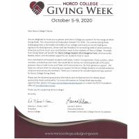 Norco College Giving Week