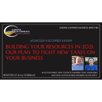 Corona Chamber Business Briefing: Building Your Resources in 2021 - Our Plan to Fight New Taxes on Your Business