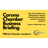 Corona Chamber Business Briefing: Job Killer Update and 3 Questions with Mark Peabody