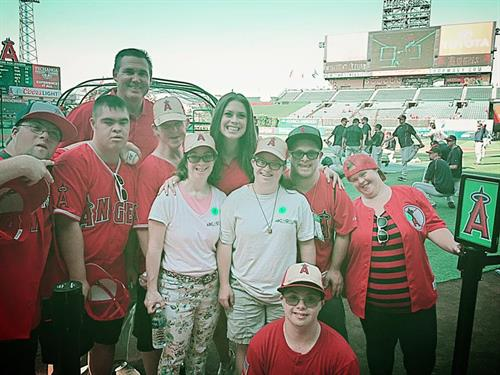 Adventures to Angel's Stadium - Met Tim Salmon