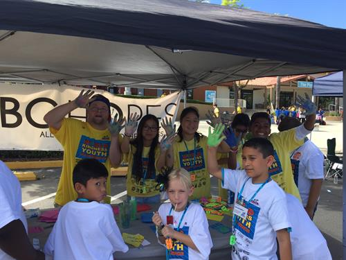 Volunteering at World Youth Conference - SACK - Corona Norco Unified School District