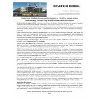 Stater Bros. Markets Announces