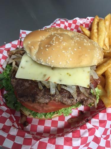 Bacon Pepper Jack Cheese Burger