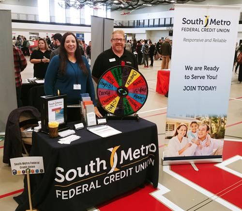 Paul & Alyssa at Shakopee High School Career Fair
