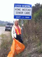 Picking up trash on El Campo Rd in Arroyo Grande