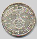 Nazi Germany silver 5 Reichsmark