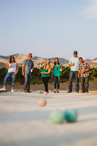 Challenge your friends to a game of Bocce