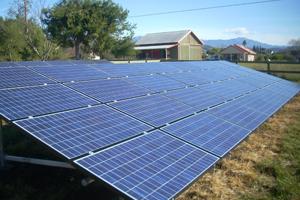 Solarponics ground mount