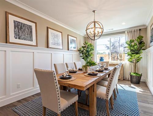 Cuesta Model Dining Room - Creekstone by Wathen Castanos Homes