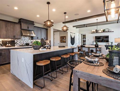 Olivera Model Kitchen - Creekstone by Wathen Castanos Homes
