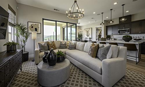 Barbera Living Room - South Morros by Wathen Castanos Homes
