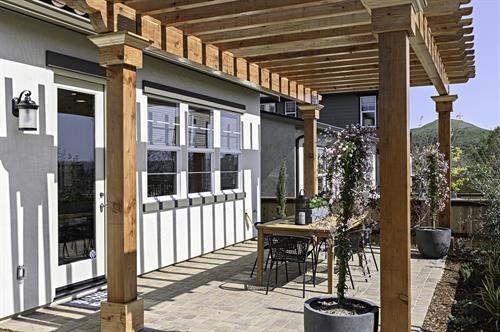Laurel Backyard - South Morros by Wathen Castanos Homes