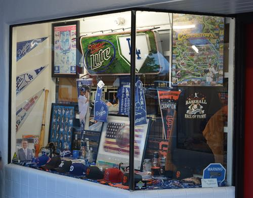 Sports Dugout Front Window Display