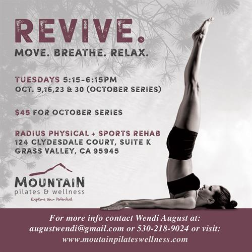 Logo Design, Flyers, & Social Media Graphics for Mountain Wellness & Pilates, Nevada City