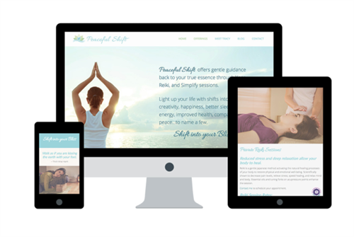 Website & Logo Rebrand/Refresh, Email Marketing for Peaceful Shift, Los Osos