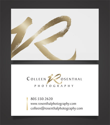 Business Card Design for C. Rosenthal Photography, SLO