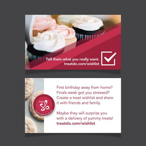 Promotional Cards for Treat SLO Bakery