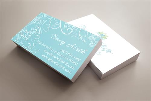 Business Card Design for Peaceful Shift Yoga & Reikie, Los Osos