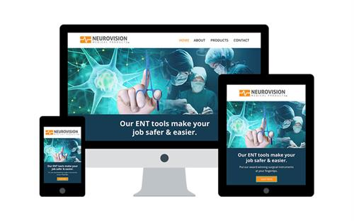 Web Design for Neurovision Medical Products, Ventura