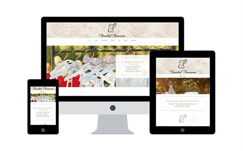 Wordpress Website for Tinseled Treasures, Paso Robles