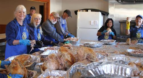 Turkey Pull at the Pismo Veterans Hall serving over 5000 for Thanksgiving dinner
