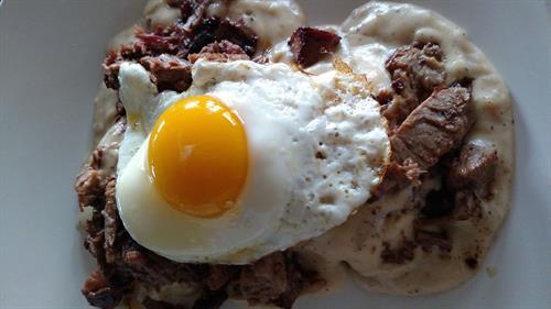 Beef Brisket & Gravy Breakfast