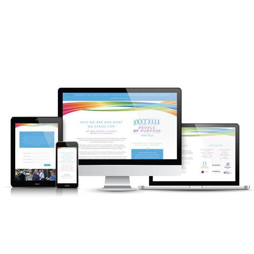 The People OF Purpose Website Design.  ThePeopleOFPurpose.com
