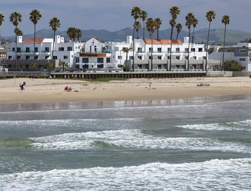 View of hotel from Pismo Pier