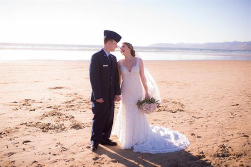 Newlywed Air Force couple