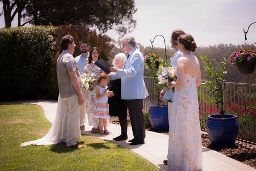 Cypress Ridge backyard wedding