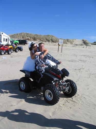 Biker wedding at the Dunes State park