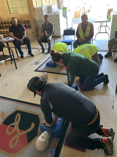 First Aid / CPR /AED Training at Laetitia Winery..
