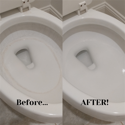 Hard water stains and buildup removed without harmful chemicals