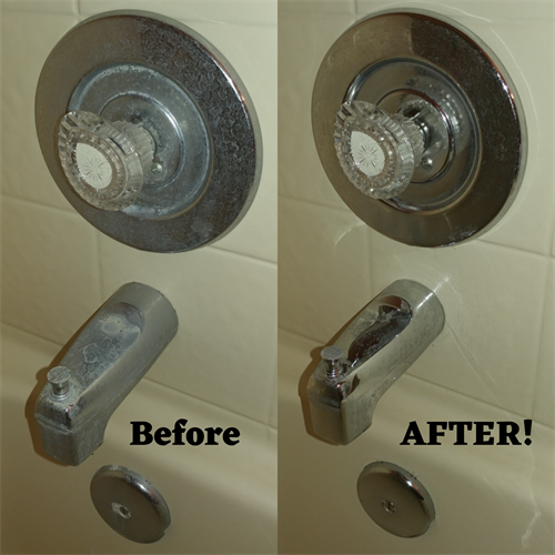 Hard water stains removed safely and effectively while not harming yourself or the environment