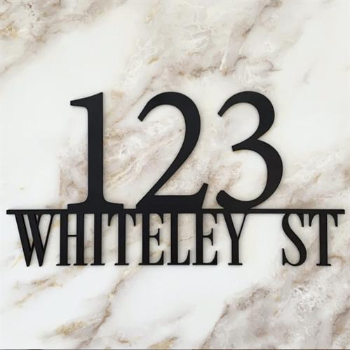 Custom Street Sign