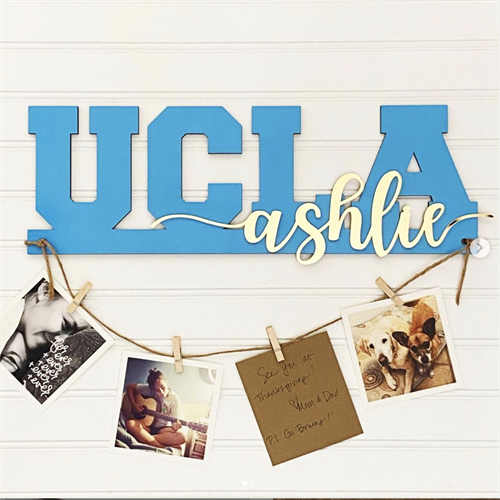 Collegiate photo hanger with name