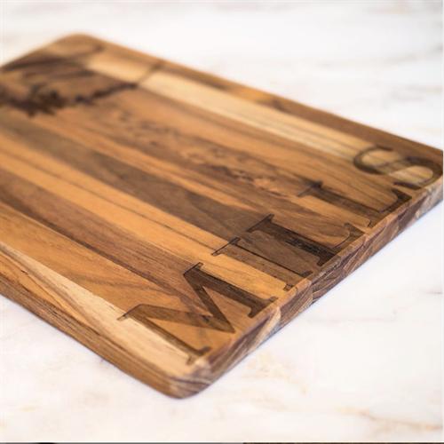 Custom Engraved Teak Cutting Board