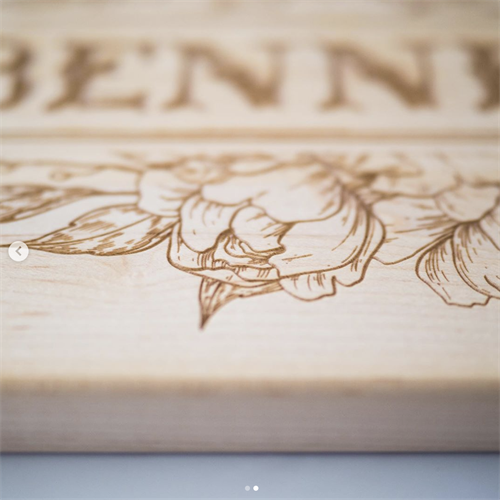 Custom Engraved Maple Cutting Board with Handle