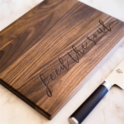 Custom Engraved Walnut Cutting Board