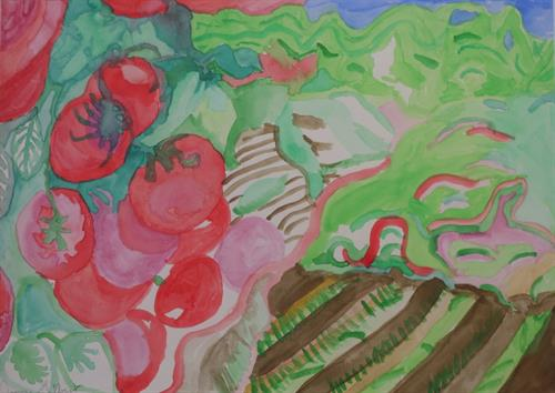 """""""A Fruitful Life"""" Artwork by a person living with Alzheimer's dementia"""