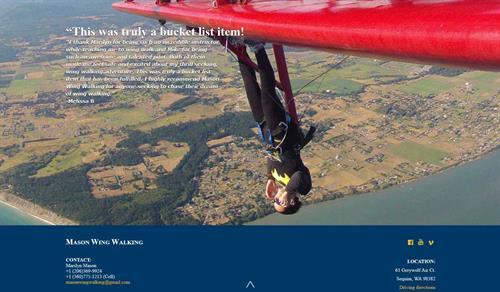 Wing Walking Website
