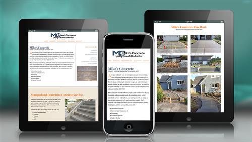 Concrete Contractor Website